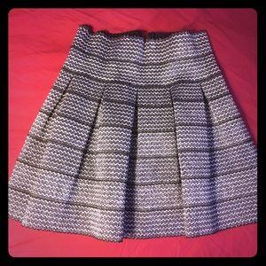 Metallic short skirt